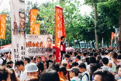 1 de julio de 2014 protesta Fotos de archivo libres de regalías