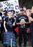 13 de julio de 2016, protesta negra de la materia de las vidas, Charleston, SC Imágenes de archivo libres de regalías