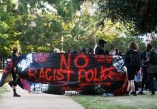13 de julio de 2016, protesta negra de la materia de las vidas, Charleston, SC Imagenes de archivo