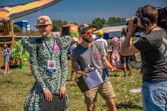 26 de julio de 2015 Red Bull Flugtag Antes del comienzo de la competencia Fotos de archivo
