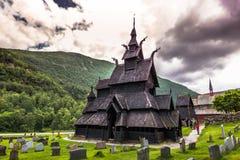 23 de julio de 2015: Stave la iglesia de Borgund en Laerdal, Noruega Fotografía de archivo