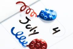 De julio el cuarto, Día de la Independencia feliz Imágenes de archivo libres de regalías