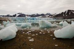 14 de julio glaciar - Spitsbergen - Svalbard Foto de archivo libre de regalías