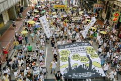 1 de julio protesta en Hong Kong Fotografía de archivo