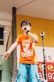 1 de julio protesta en Hong Kong Foto de archivo libre de regalías