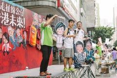 1 de julio protesta en Hong Kong Foto de archivo