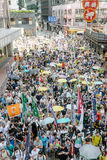 1 de julio protesta en Hong Kong Fotos de archivo libres de regalías