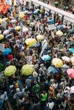 1 de julio protesta en Hong Kong Fotos de archivo