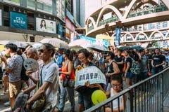1 de julio protesta en Hong Kong Fotografía de archivo libre de regalías