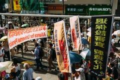 1 de julio protesta en Hong Kong Imagenes de archivo
