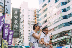 1 de julio protesta en Hong Kong Imagen de archivo
