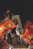 15 de julio protestas de la tentativa del golpe en Estambul Fotos de archivo