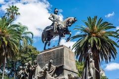 9 de Julio Square i Salta, Argentina Royaltyfri Fotografi
