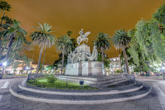 9 de Julio Square in Salta, Argentina Royalty Free Stock Photography