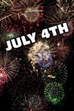 4 de julio y Años Nuevos de Eve Holiday Fireworks Display Foto de archivo