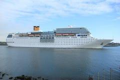 13 de junho de 2014 IJmuiden: Costa Neo Romantica no Mar do Norte Cana Fotografia de Stock Royalty Free