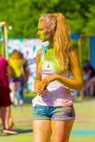 19 de junho de 2016, Orekhovo-Zuevo, região de Moscou, Rússia O festival das cores Fotos de Stock Royalty Free