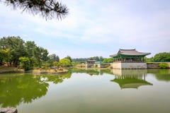 22 de junho de 2017 palácio de Donggung e lagoa de Wolji em Gyeongju, K sul Imagens de Stock