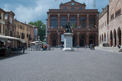 10 de junho de 2016 quadrado de rimini-Itália Cavour em rimini na região de Emilia Romagna, Italia Fotografia de Stock Royalty Free