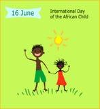 16 de junho dia internacional da criança africana Fotos de Stock Royalty Free