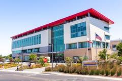 21 de junho de 2019 Menlo Park/CA/EUA - a construção de apoio da ciência e do usuário no laboratório nacional do acelerador de SL imagens de stock