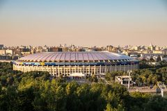 27 de junho de 2018, Moscou, Rússia Estádio de Luzhniki fotografia de stock