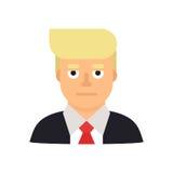 10 de junio de 2017 Ejemplo moderno del vector de un retrato del hombre de negocios y del candidato presidencial Donald Trump stock de ilustración
