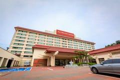 21 de junio de 2017 el hotel de Westin Chosun en la playa de Haeundae en Busán Foto de archivo libre de regalías
