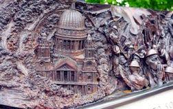21 de junio de 2015, Londres, Reino Unido: Fragmento del monumento de guerra bien hecho a mano para la batalla de Inglaterra, en  Imagen de archivo libre de regalías