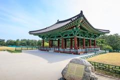 22 de junio de 2017 palacio de Donggung y charca de Wolji en Gyeongju, K del sur Foto de archivo