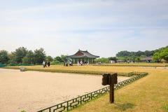 22 de junio de 2017 palacio de Donggung y charca de Wolji en Gyeongju, K del sur Imágenes de archivo libres de regalías