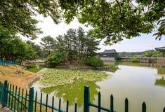 22 de junio de 2017 palacio de Donggung y charca de Wolji en Gyeongju, K del sur Fotos de archivo