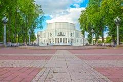 24 de junio de 2015: Teatro de la ópera en Minsk, Bielorrusia Imagen de archivo