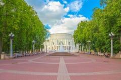 24 de junio de 2015: Teatro de la ópera en Minsk, Bielorrusia Imagen de archivo libre de regalías