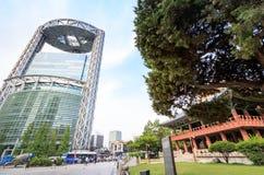 19 de junio de 2017 torre del Jong-Ro de Samsung en Jonno cerca de la estación de Jonggak Fotos de archivo libres de regalías