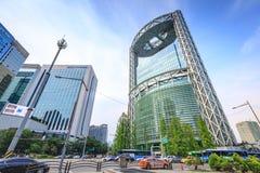 19 de junio de 2017 torre del Jong-Ro de Samsung en Jonno cerca de la estación de Jonggak Foto de archivo libre de regalías
