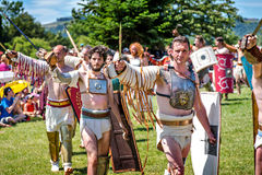 10-11 de junio de 2017 Vienne, Francia Festival histórico de los días Gallo-romanos Fotografía de archivo