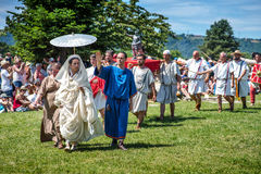 10-11 de junio de 2017 Vienne, Francia Festival histórico de los días Gallo-romanos Foto de archivo