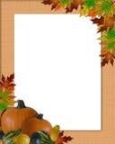 De Jute van het Frame van de Daling van de Herfst van de dankzegging royalty-vrije illustratie