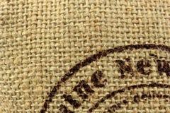 De jutetextuur van het linnen Royalty-vrije Stock Foto