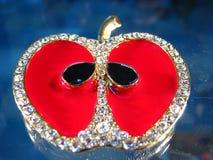 De juwelen van de appel Stock Afbeeldingen