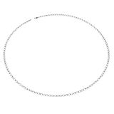 De Juwelen van de witgoudketting Geïsoleerd op witte 3D Illustratie Stock Afbeeldingen