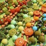 De juwelen van felted met de hand gemaakte parels Royalty-vrije Stock Afbeelding