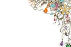 De juwelen van het platina met gemmen Stock Fotografie