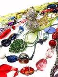 De juwelen van kristallenparels als manierachtergrond Stock Fotografie