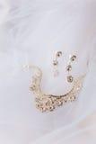 De juwelenreeks van het huwelijk Stock Foto