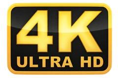 de 4K logotipo ultra HD stock de ilustración
