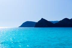 De kaap en Potixol Spanje van Javeaxabia Cabo San Martin Stock Afbeelding