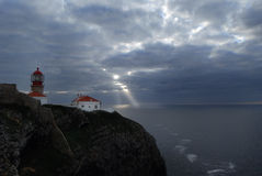 De Kaap Heilige Vincent, Portugal van de vuurtoren Stock Fotografie