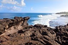 De kaap van Gris van Gris. Mauritius. Grote golven Royalty-vrije Stock Fotografie